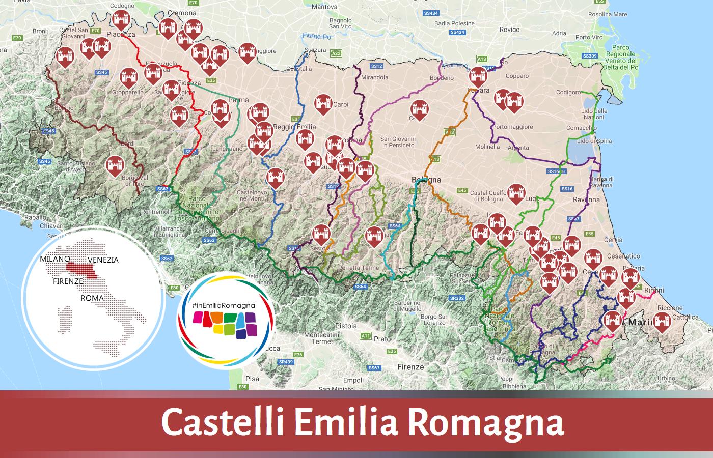 Emilia Romagna Cartina Province.Castelli Emilia Romagna